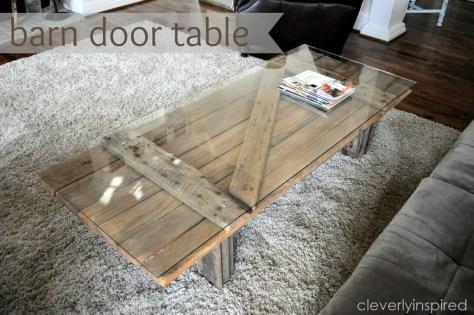 DIY Barn Door Coffee Table