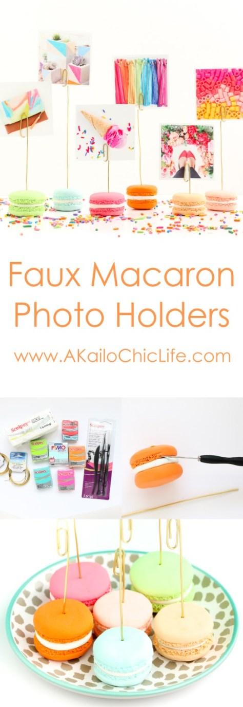 DIY Faux Macaron Photo Holders