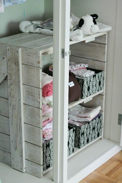 DIY Barn Door Shelf in Closet