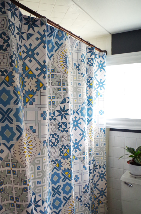 DIY Plaster Disaster Shower Curtain