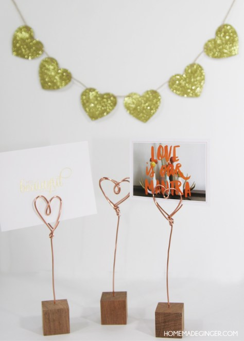 DIY Copper Wire Photo Holders