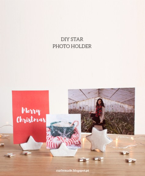 DIY Clay Star Photo Holder