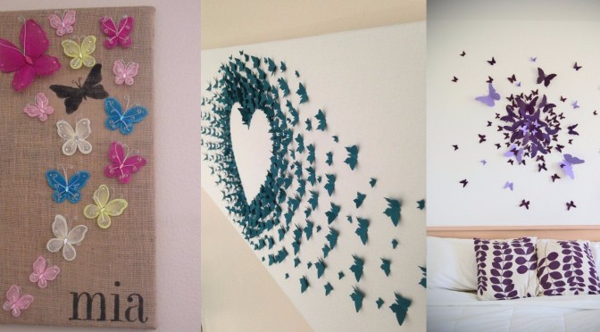 Butterfly Bedroom Decorating Ideas: 10 DIY Butterfly Wall Decor Ideas With Directions