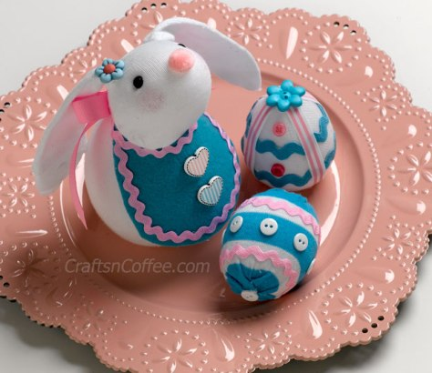 Sock Bunny and Sock Eggs