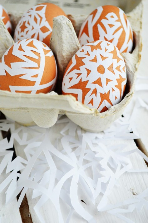 Paper Snowflake Easter Eggs