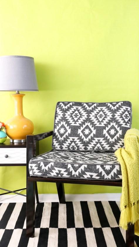 DIY Sewn Chair Cushions