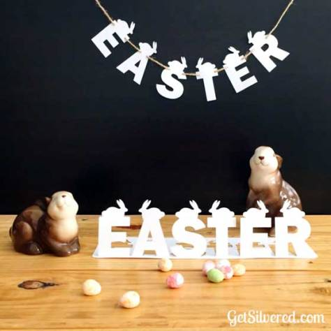Easter Bunny Garland and Stand Up Decoration