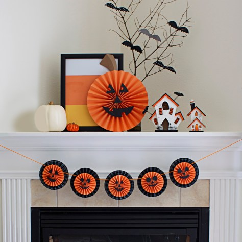 Mantle Halloween Decorations