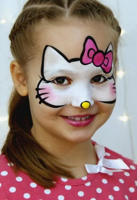 Hello Kitty Halloween Makeup