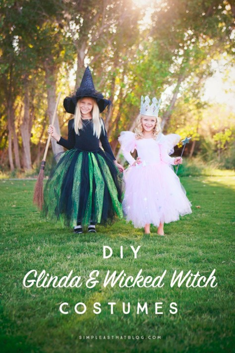Glinda and Wicked Witch Halloween Costume