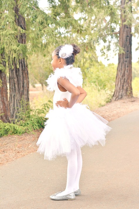White Swan Halloween Costume for Kids