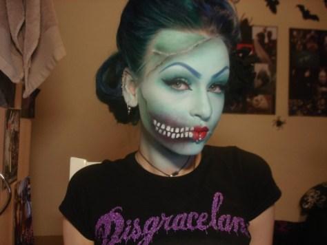 Pin Up Zombie Makeup