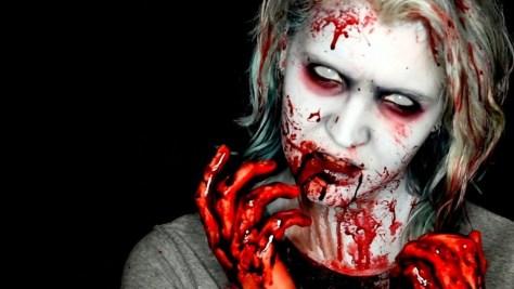 Old School Zombie Halloween Makeup