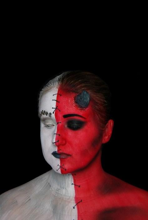 Devil & Angel Halloween Makeup
