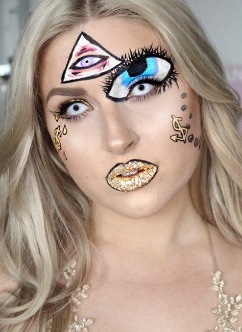 Illuminati Inspired Halloween Makeup