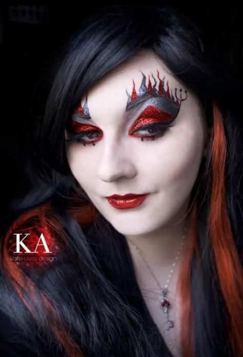 Last Minute Devil Halloween Makeup