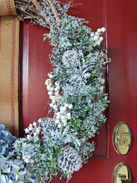 Floral Snowy Wreath