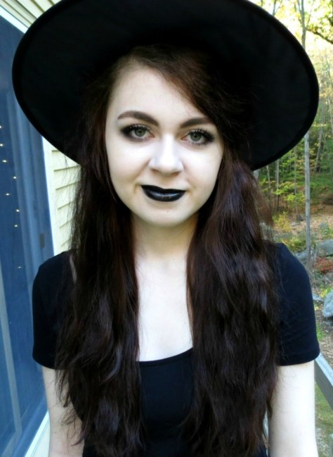 Witch Halloween Makeup With Costume