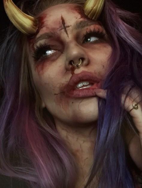 Demonic Devil Halloween Makeup