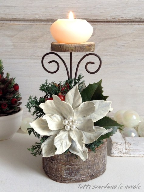 Candlestick and Star Christmas Decoration
