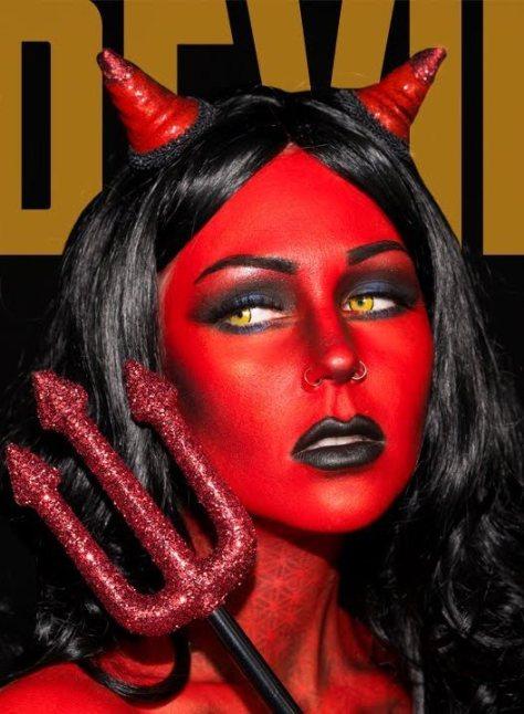 Heaven & Hell Devil Halloween Makeup