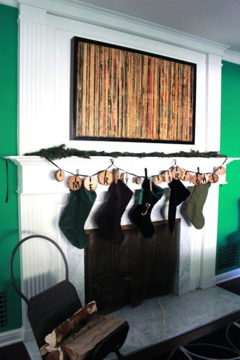 Recycled Wood Garland