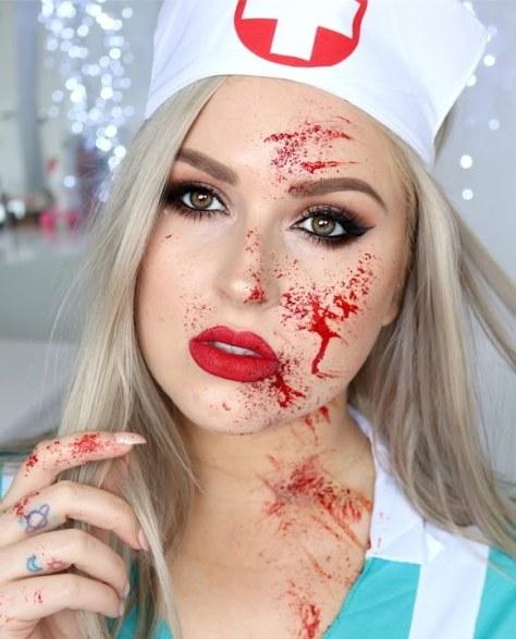 Nurse Halloween Makeup