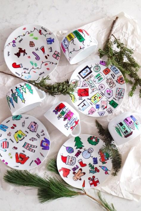 Plates and Mugs Gift Set