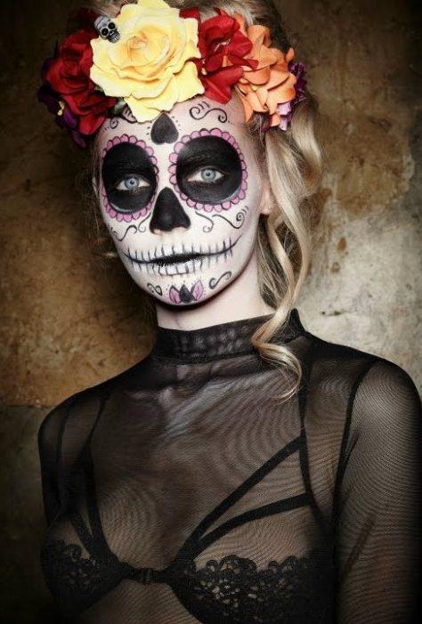 Mexican Sugar Skull Halloween Makeup