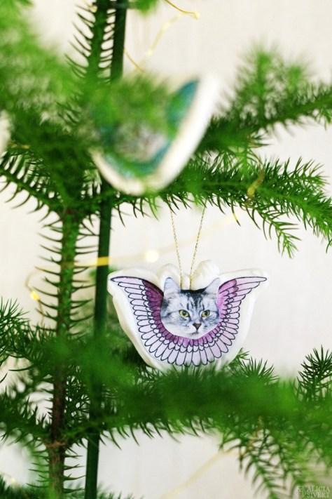 Angel Cat Ornaments