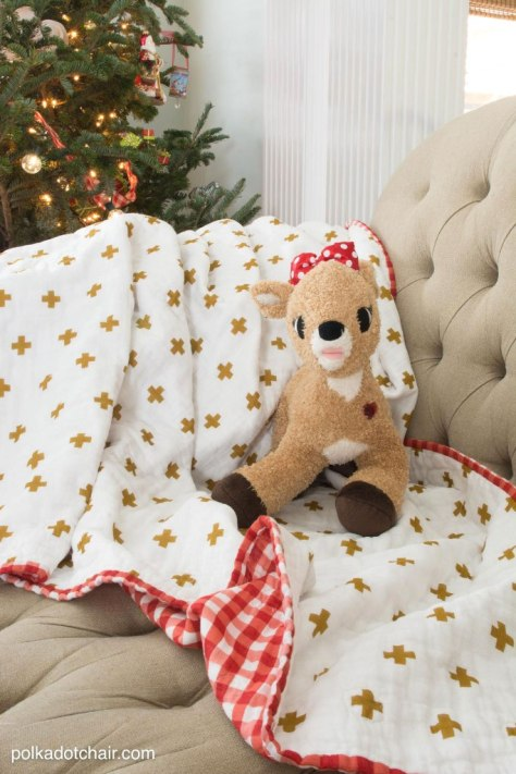 Double Gauze Quilted Blanket