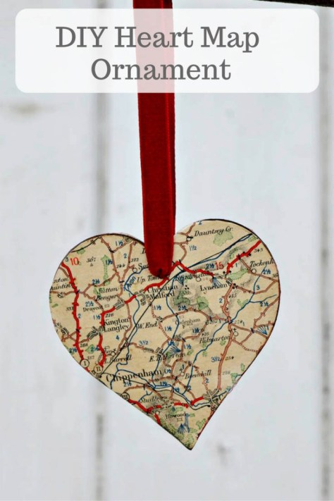 Heart Map Ornament
