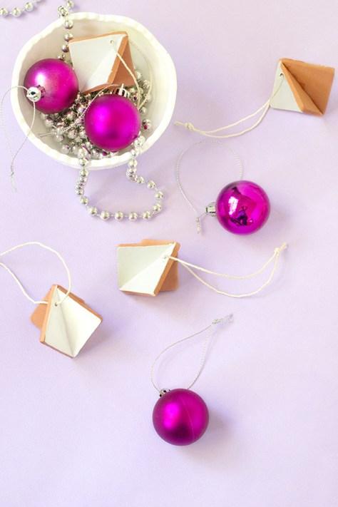 Diamond Clay Ornaments