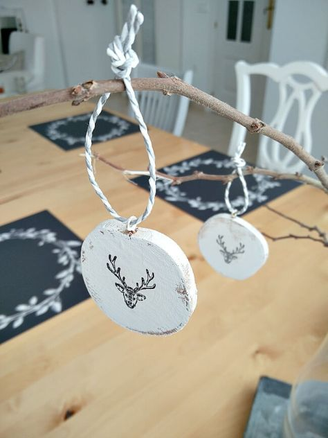 Nordic Style Wood Slice Ornaments