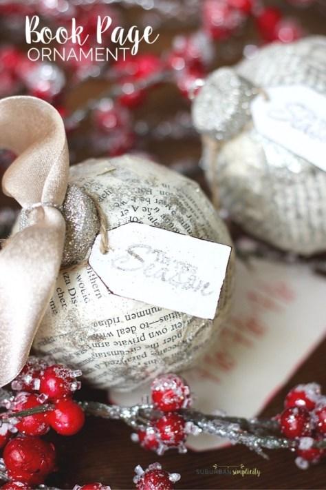 Book Page Ornament