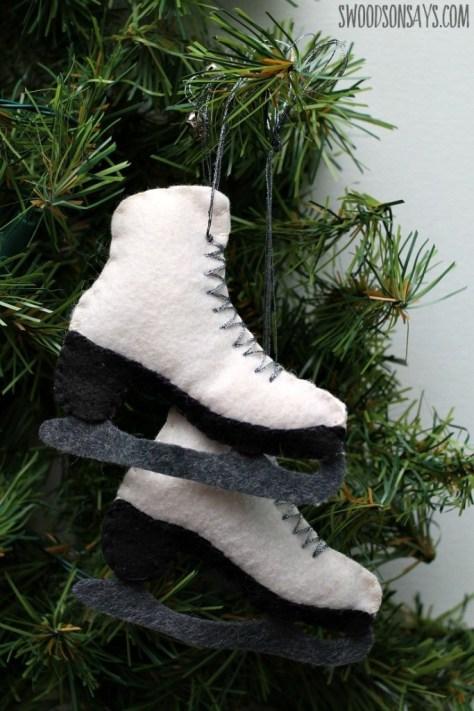 Felt Ice Skates Ornament