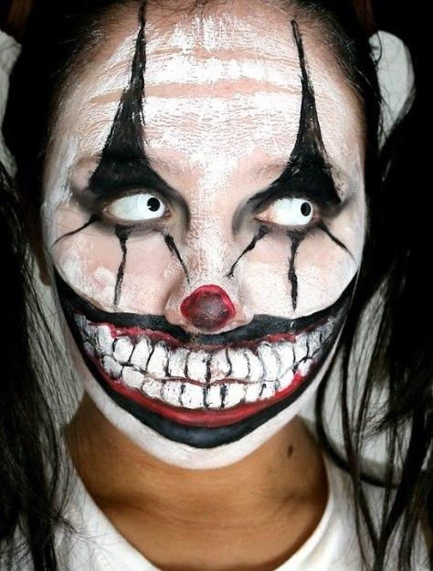 Killer Clown Halloween Makeup