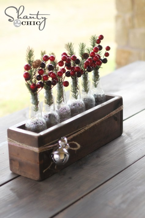 Soda Bottle Crate Centerpiece