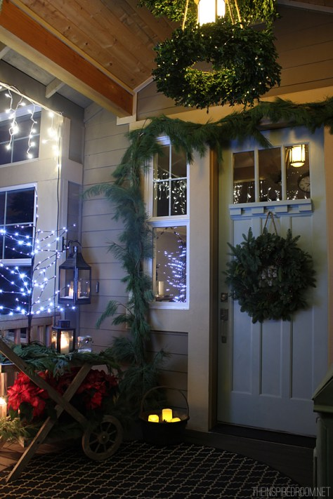 Boxwood Chandelier Porch Decor