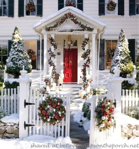 Snowy Porch Decoration