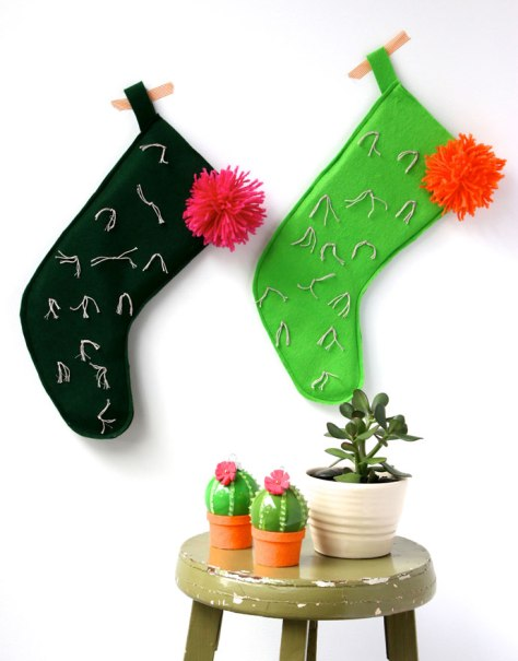 Cactus Christmas Stocking