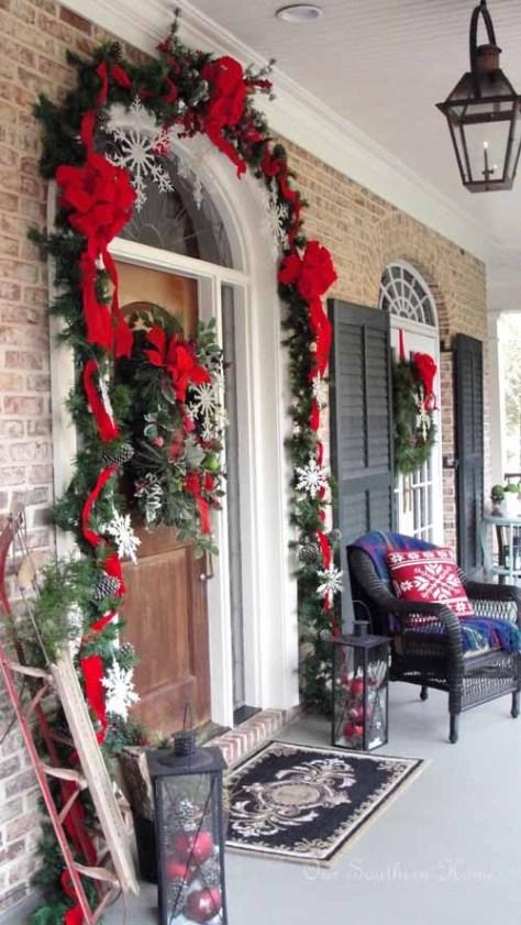 Glittered Snowflakes Porch Decor