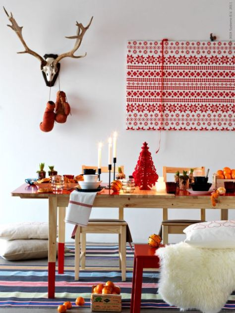 Scandinavian Christmas Red