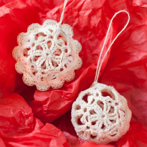 Lace Crochet Christmas Balls