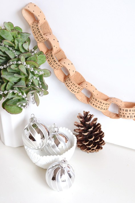 Leather Chain Garland
