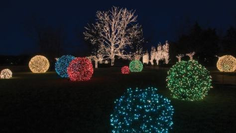 Big Lighted Christmas Balls