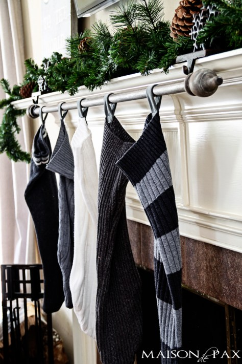 Curtain Rod Stocking Hanger