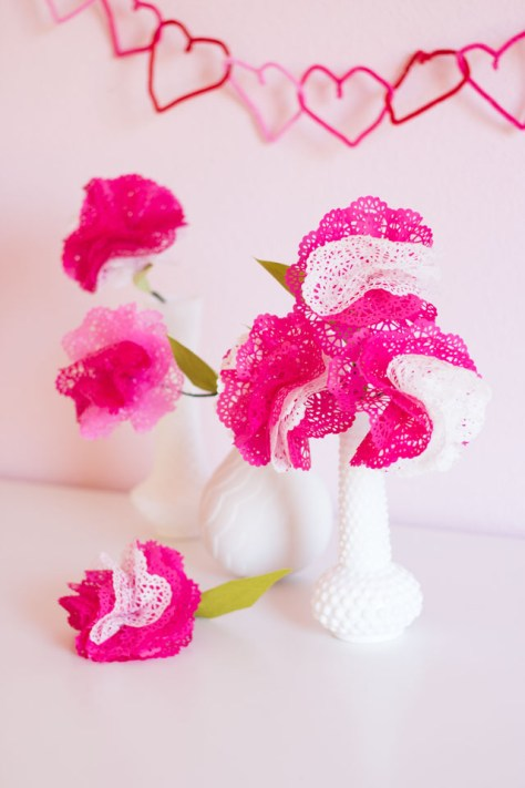 Paper Doily Flowers