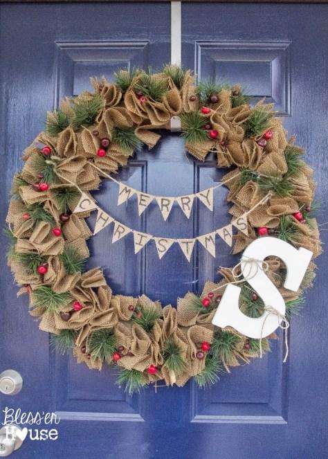Mini Bunting Wreath