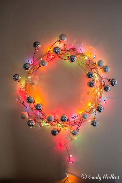 Wire and Ornament Wreath